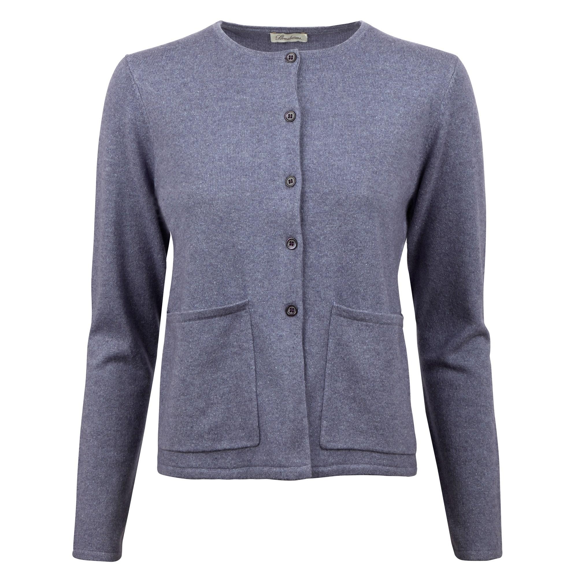 Purple Silk Cashmere Cardigan